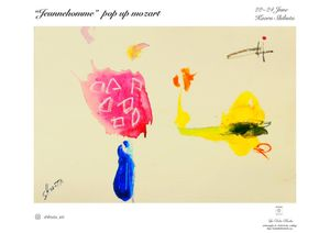 "Jeunnehomme – pop up mozart"". Paintings by Kaoru Shibuta."