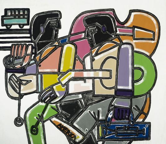 America Martin, Yo-yo's and Walking, Oil & Acrylic on Canvas, 72 x 85.5 inches