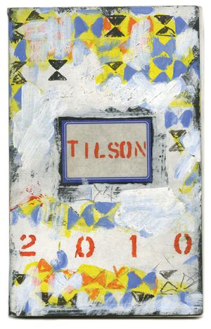2010 notebook front cover. Courtesy Joe Tilson and Alan Cristea Gallery, London