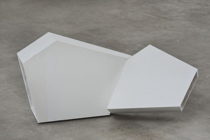 Untitled, 2014 Cast Plaster (GFRG) 15 1/4 x 34 3/8 x 15 1/2 inches