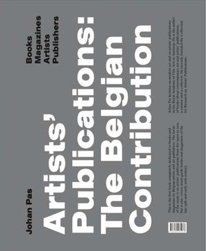 Johan Pas : Artists' Publications: The Belgian Contribution