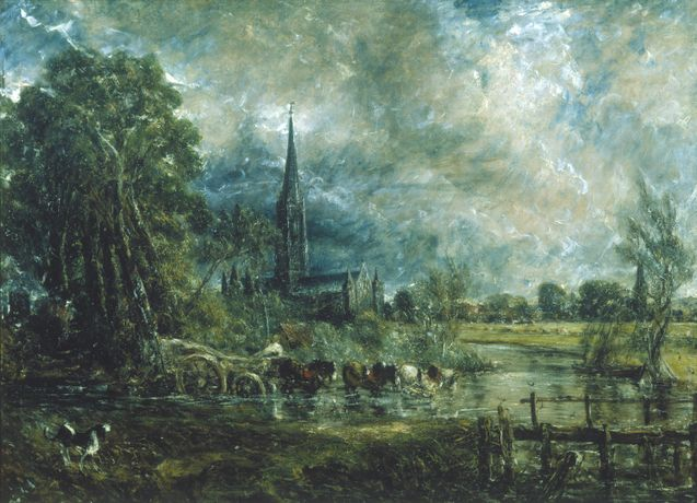 John Constable, Salisbury Cathedral, Wiltshire, from the Meadows, 1831 © Guildhall Art Gallery, City of London Corporation