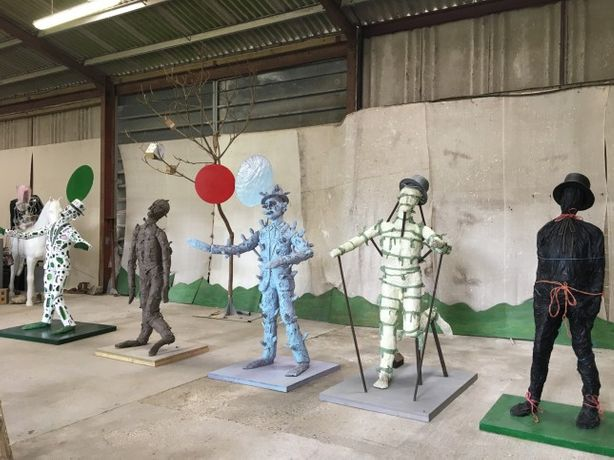 John Davies  Scarecrows in his studio. Photo credit: Turner Contemporary