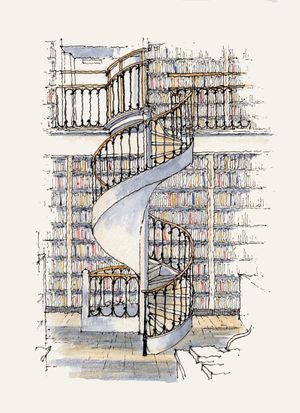 Leeds Library Spiral Stair