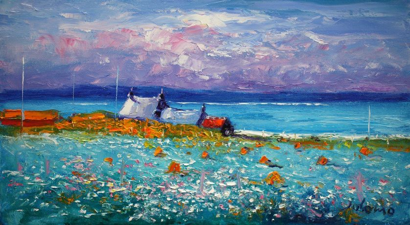 A Summer Morninglight Isle of Iona by John Lowrie Morrison