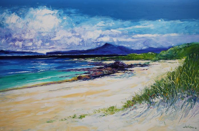 St Columba's Beach of the Seat Iona 40x60