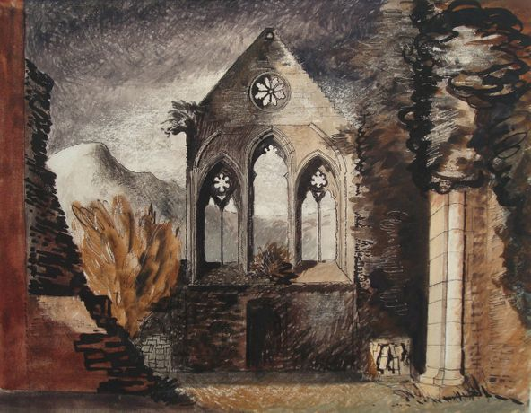 John Piper 'Valle Crucis Abbey' 1940 Mixed media