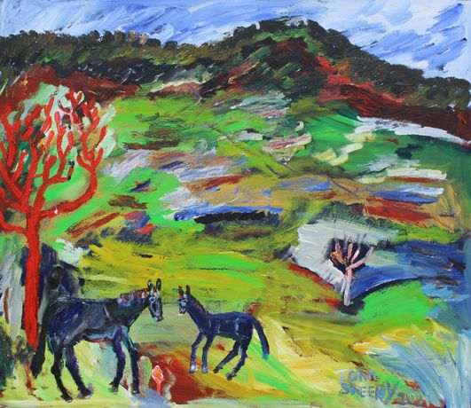 Gone To The Blacksmith, John Sheehy, 2001, Acrylic on canvas