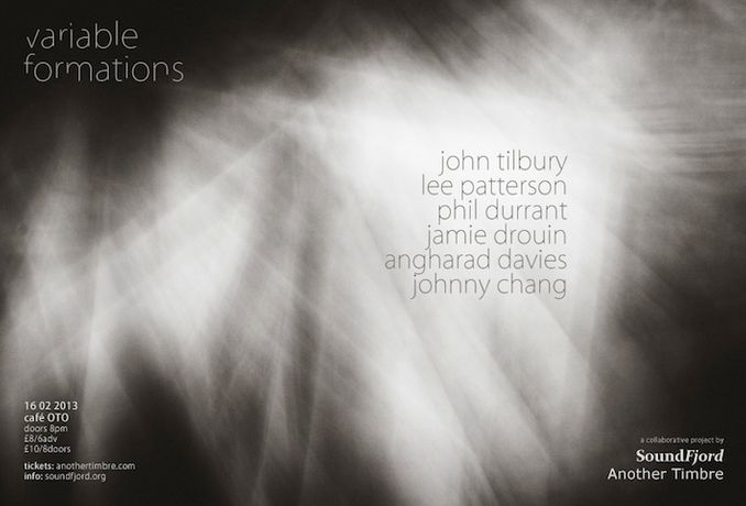 JOHN TILBURY + LEE PATTERSON + PHIL DURRANT + JAMIE DROUIN + ANGHARAD DAVIES + JOHNNY CHANG: VARIABLE FORMATIONS: Image 0