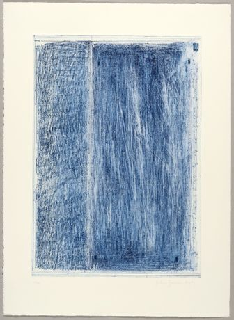 John Zurier October 1 (Blue), 2017 Soft ground etching, drypoint, 73,5 x 53,5 cm Edition of 12 + 3 AP