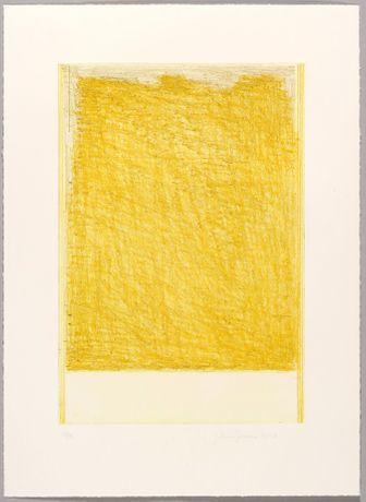 John Zurier October 3 (Yellow), 2017 Soft ground etching, 63 x 46 cm Edition of 12 + 3 AP