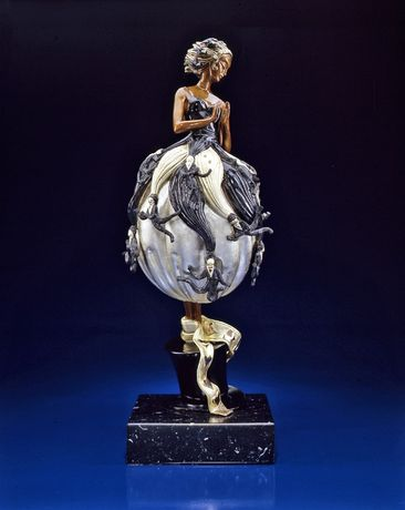 Erté, Tuxedo, bronze sculpture, 21 x 9 x 7 inches