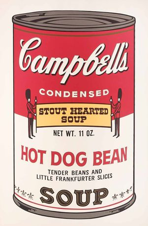 Andy Warhol, Hot Dog Bean, 1969 (#59, Campbell's Soup  II), hand-signed screen print, 35 x 23 inches