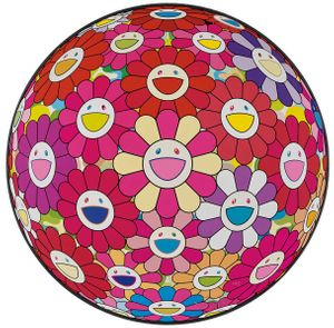 Takashi Murakami, Groping for the Truth, offset lithograph, 28 diameter