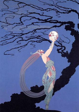 Erté, Fireflies, serigraph, 26 1/2 x 18 1/4 inches