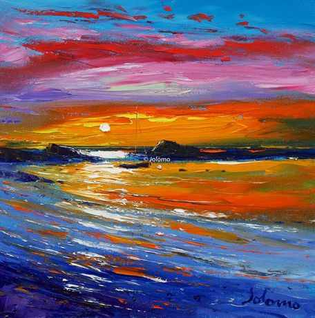 A Safe Evening Mooring Kintyre by Jolomo