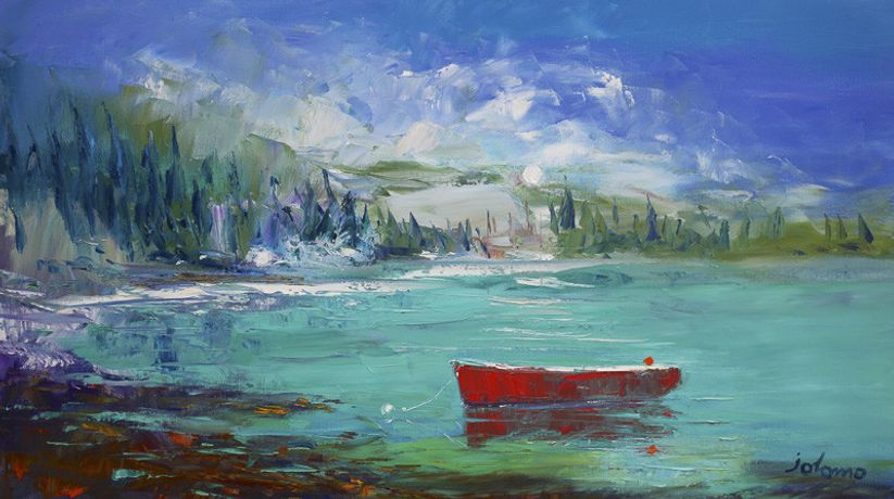 Jolomo - The red boat Loch Sween Knapdale