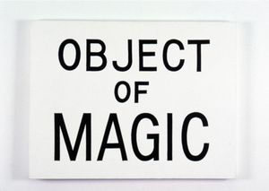 Jonathan Borofsky, Object of Magic, 1984, acrylic on canvas, 30 3/16 x 40 1/8 inches (83.8 x 101.9 cm)
