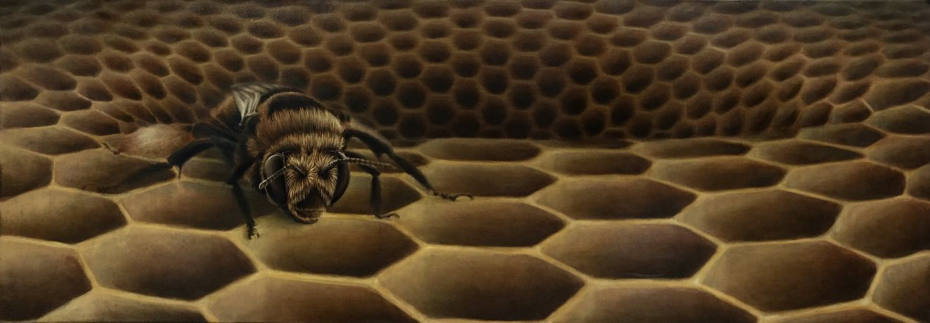 The Last Bee (160 x 60cm) Oil on Canvas
