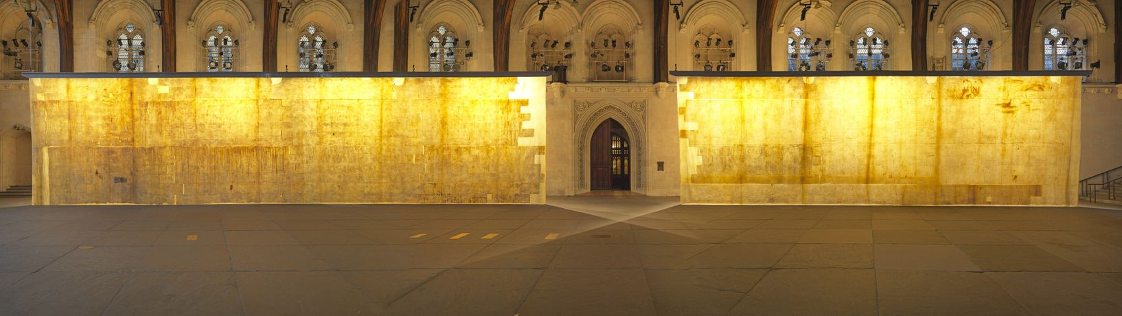 The Ethics of Dust at Westminster Hall, by Jorge Otero-Pailos, 2016. An Artangel commission. Photo by Marcus J Leith.