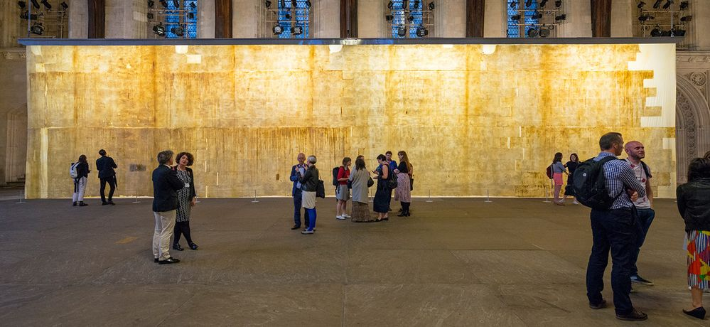 Image: Jorge Otero-Pailos, The Ethics of Dust, at Westminster Hall, Houses of Parliament, London, 29 June to 1 September 2016. An Artangel project. Photo: William Eckersley