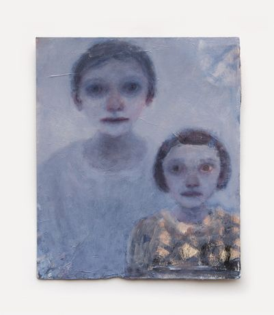 Family Portrait I, oil on paper, 38 x 32 cm