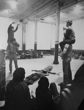 Juan Downey, Performance view of Energy Fields at 112 Greene Street, New York, 1972. Documentation photograph, 8 x 10 in. Image credit: The Estate of Juan Downey, New York
