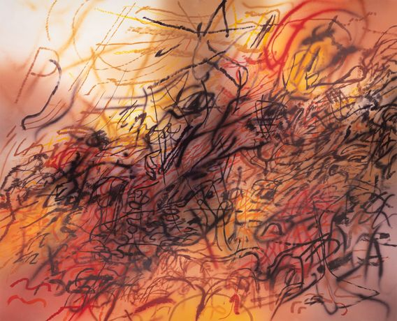 Julie Mehretu, First Seal (R 6:1), 2020, Photogravure, aquatint, open bite and sugar lift aquatint.