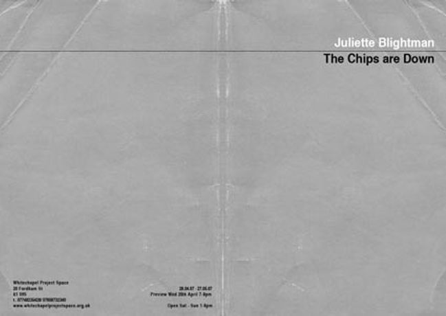 Juliette Blightman - The Chips are Down: Image 0
