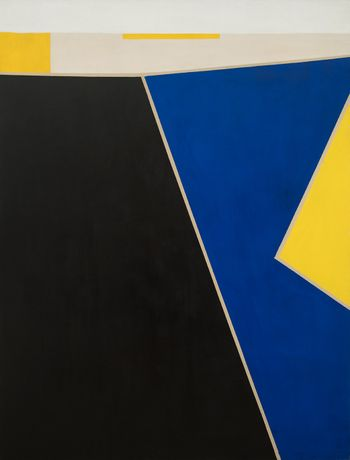 Julius Tobias (1915-1999) Untitled, circa 1964 Oil on canvas 77 1/4 x 59 inches