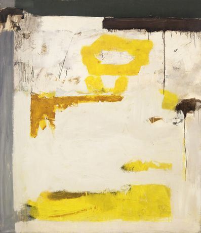 Julius Tobias (1915-1999) Untitled, circa 1960 Oil on canvas 89 1/2 x 77 3/4 inches