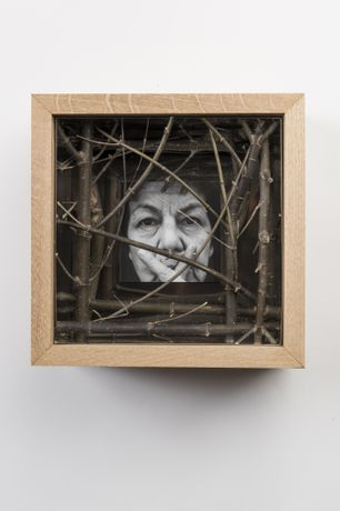Wooden and Stainless Steel Box with Face and Hands No.4