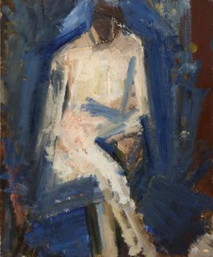 Karl Weschke, Seated Figure © Jonathan Clark Fine Art Ltd.