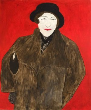 Kate Boxer, Agatha Christie, Drypoint, carborundum and Chine-collé