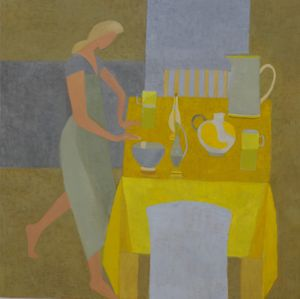 Yellow Table with figure - Mary Mabbutt