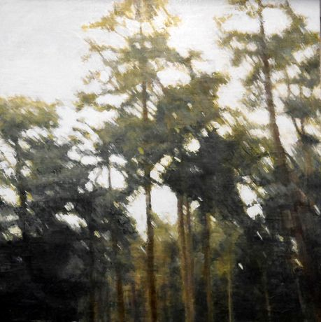 Rendlesham 3, Oil on Panel, 60x60cm
