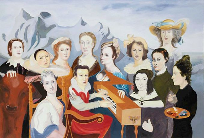 Katrin Plavčak: History of Painting Revisited, 2012, 170 x 250 cm, oil on cotton