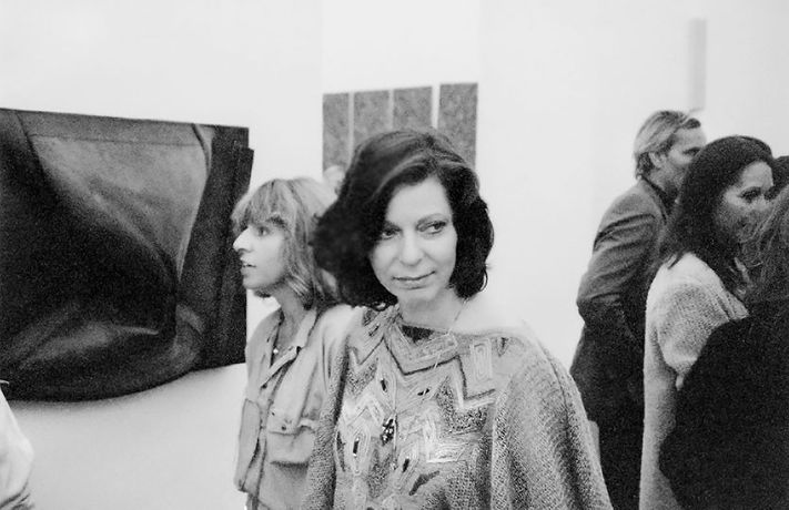 Katrin Sello 1985 at Kunstverein Hannover, photographer unknown