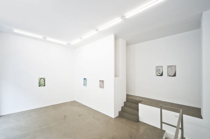 Kaye Donachie, Behind her eyelids she sees something, 2015, installation view at RIBOT gallery