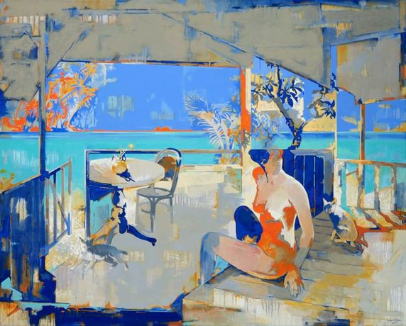 Yeo Siak Goon, Serene Beach, 2011, oil on canvas.