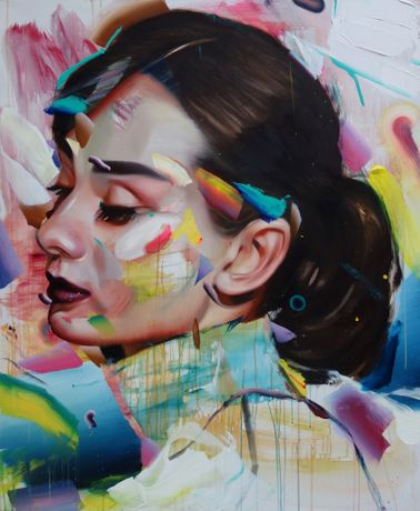 Pascal Vilcollet, Audrey, oil on canvas.