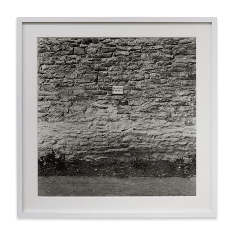 Keith Arnatt, The Absence of the Artist, 1968/2015, Black and white photograph, silver gelatine print, 28.9 x 28.9 cm, 36.4 x 36.4 cm (framed). © Keith Arnatt Estate. All Rights Reserved, DACS 2015. Courtesy Sprüth Magers