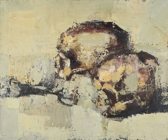 Skull No. 5, ca 1954 – 1960, oil on canvas, 61 x 50 cm. Image © of the artist, by courtesy of Keith Cunningham Estate. Photo: Sylvain Deleu