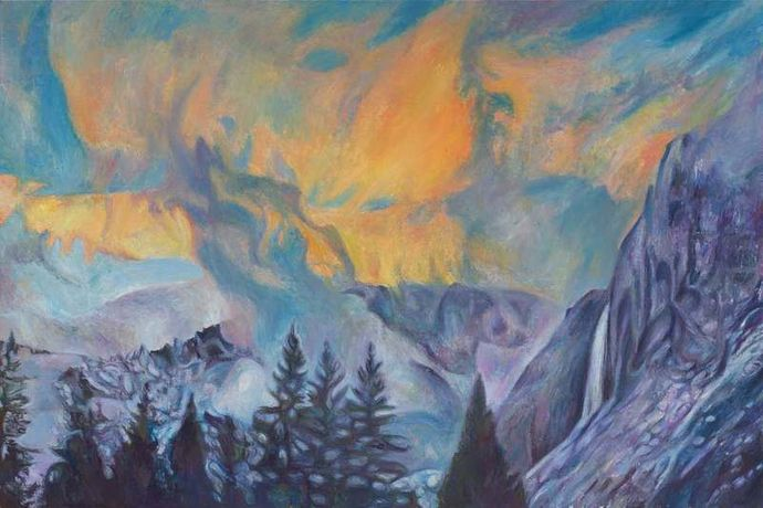 Yosemite Sunset, 2017, oil on canvas, 40 x 60 in.
