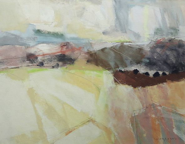 Wolds above Tetford, Pastel by Keith Roper