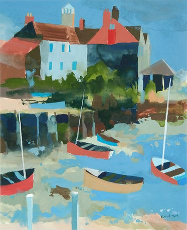 Burnham Overy Staithe, Gouache by Richard Tuff