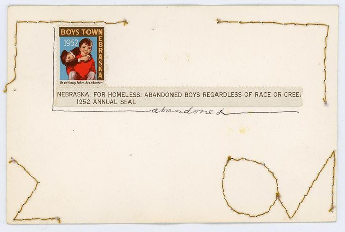 Face of Facing Rejection, July 1972 (verso) Keith Smith. The Postcards, 1965-Present