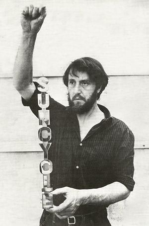Ken Cox with Suncycle, 1968,  c.Lisson Gallery