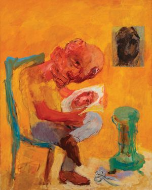 Man with Paraffin Stove, 1965. Private collection. Copyright Estate of Ken Kiff