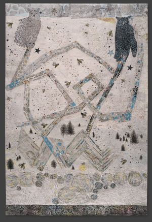 Kiki Smith Parliament, 2017  Jacquard tapestry 116 x 76 in 294.6 x 193 cm Edition of 10